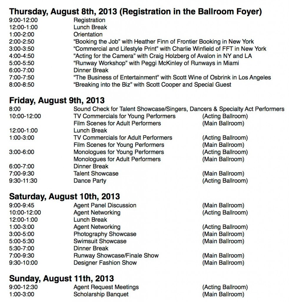 Talent-INC-August-2013-Schedule